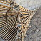 Traditional wooden fish trap by Angela Ferguson