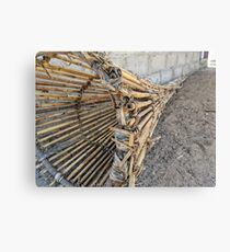 Traditional wooden fish trap Canvas Print