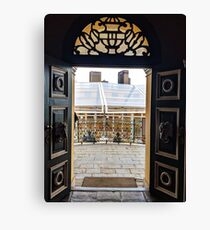Ornate doors with transom window Canvas Print