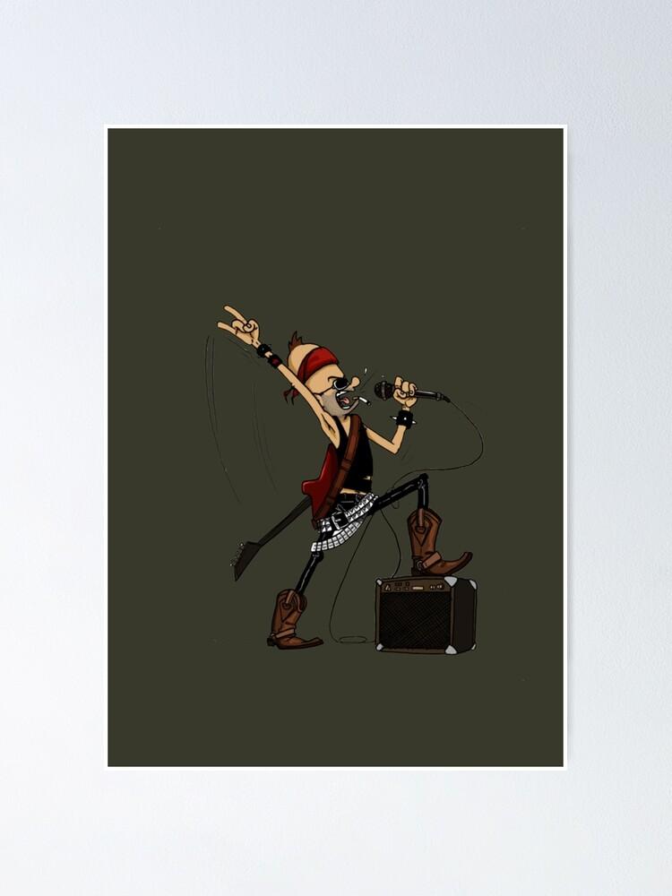 Alternative Ansicht von Rockstar Jochen by Zapf Poster