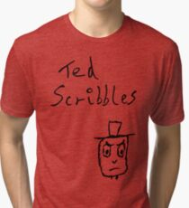 Angry Ted Tri-blend T-Shirt