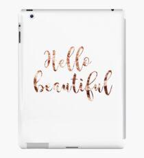 Hallo schönes Roségold iPad-Hülle & Klebefolie
