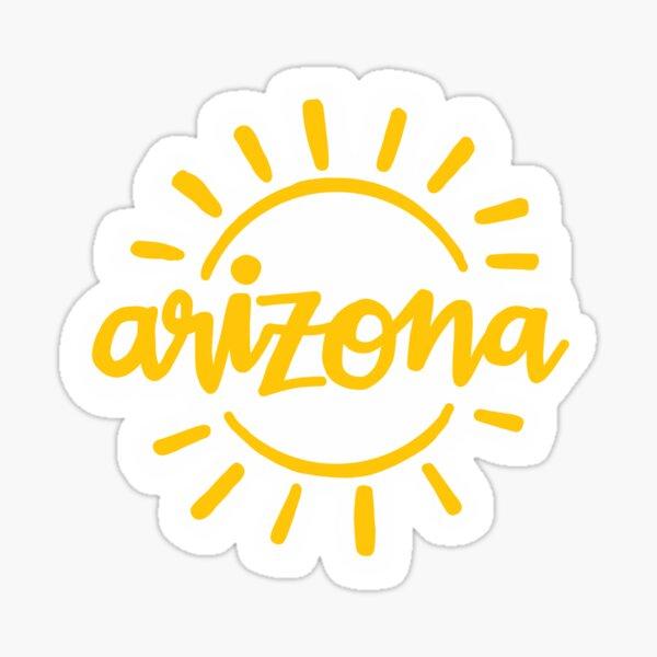 arizona sunshine yellow aesthetic sticker Sticker
