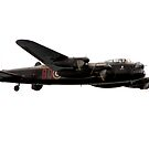 RAF Lancaster by Angela E.L. Clements