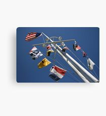 A Mast for the Navy Canvas Print