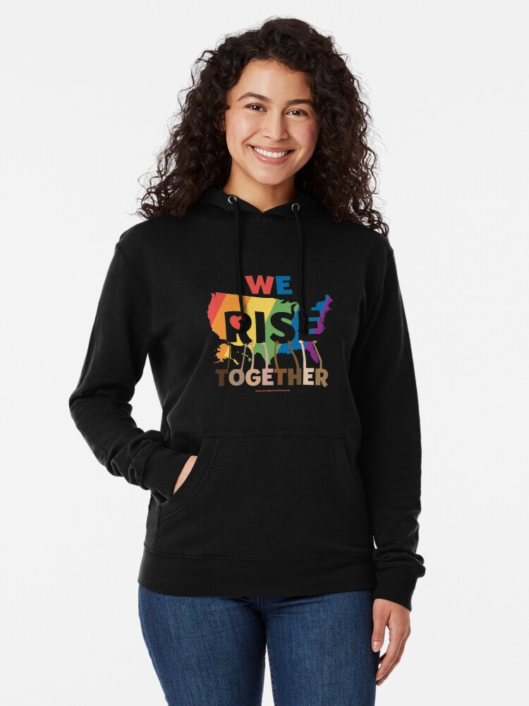 Alternate view of We Rise Together Lightweight Hoodie