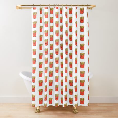Time Fries when you're having fun Shower Curtain