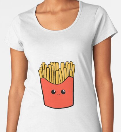 Time Fries when you're having fun Premium Scoop T-Shirt