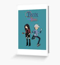 Twin Time Greeting Card