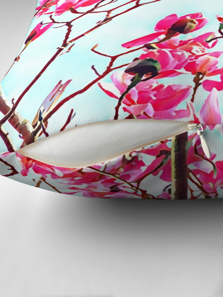 Alternate view of Magnificent Magnolia photo artwork Throw Pillow