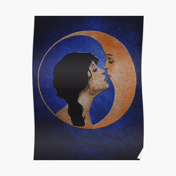 Dear Moon   Saphire Skies Poster