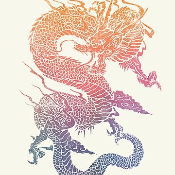Colourful Chinese Dragon by Illustratorial