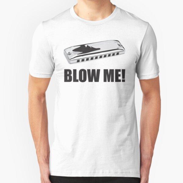 BLOW ME HARMONICA FUNNY INSTRUMENT HUMOR BLUES Mens Gray Tank Top