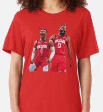 Russell Westbrook James Harden Rockets Slim Fit T-Shirt