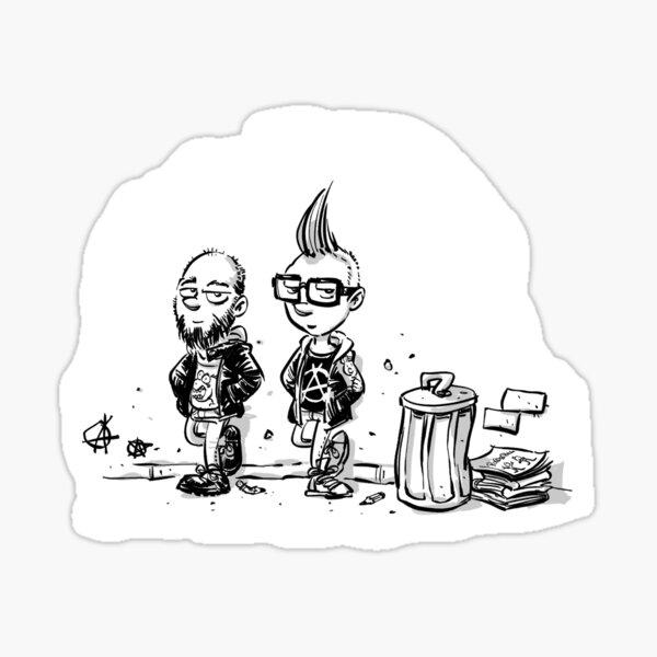 Punk's not dead Jochen & Raimund by Raimund Frey Sticker