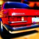 red mercedes benz 300cd by brian gregory