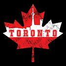 «Toronto Canada Skyline silueta hoja de arce» de Maljonic