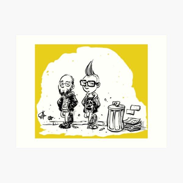 Punk's not dead Jochen & Raimund by Raimund Frey Kunstdruck