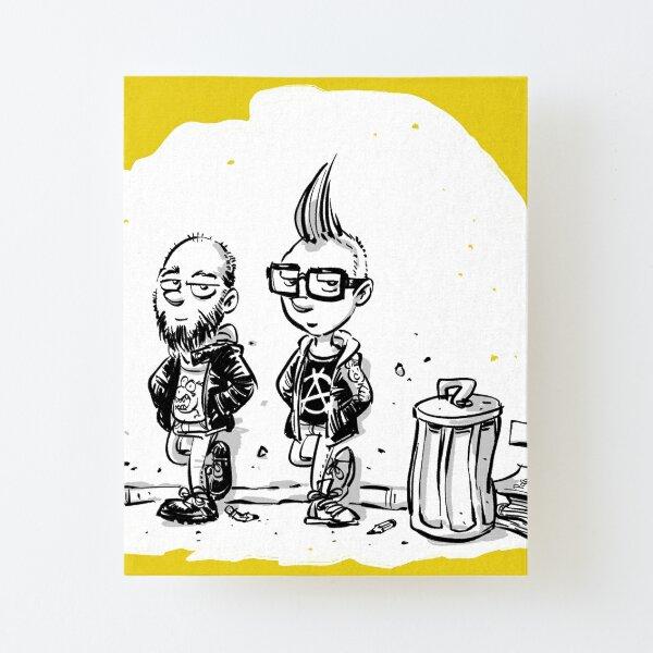 Punk's not dead Jochen & Raimund by Raimund Frey Aufgezogener Druck auf Leinwandkarton