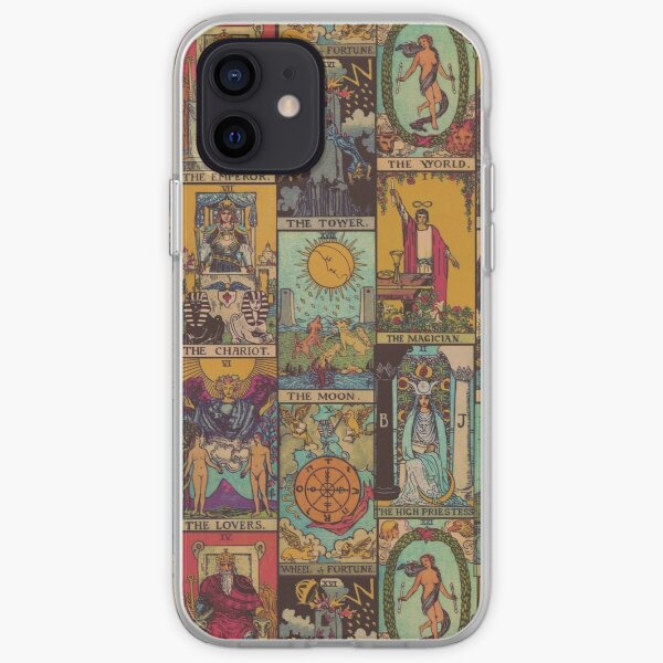 The Major Arcana of Tarot Vintage Patchwork iPhone Soft Case