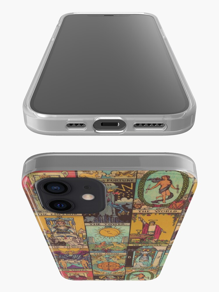 Alternate view of The Major Arcana of Tarot Vintage Patchwork iPhone Case & Cover