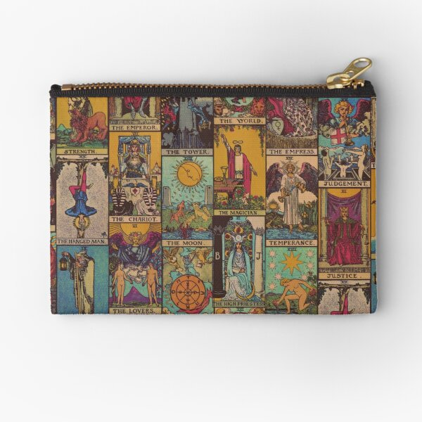 The Major Arcana of Tarot Vintage Patchwork Zipper Pouch