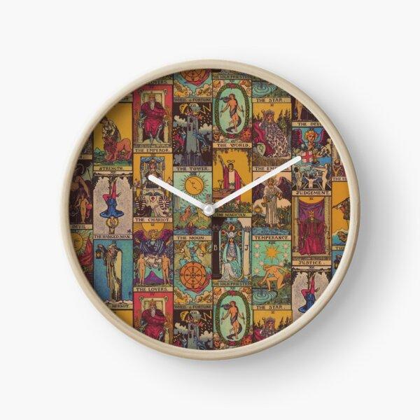 The Major Arcana of Tarot Vintage Patchwork Clock