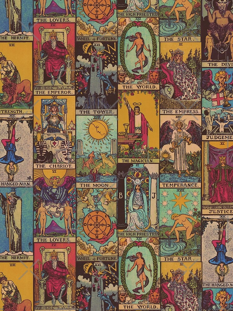 The Major Arcana of Tarot Vintage Patchwork by wildtribe