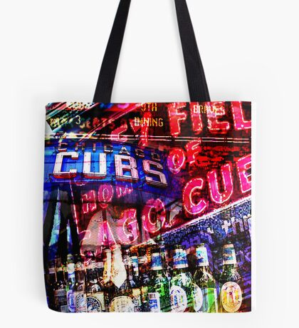 chicago cubs montage Tote Bag