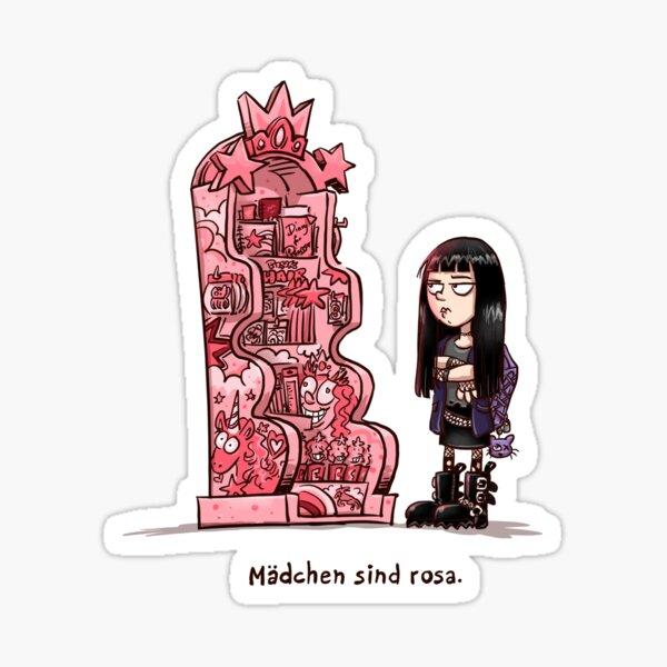 Mädchen sind rosa 1 Sticker