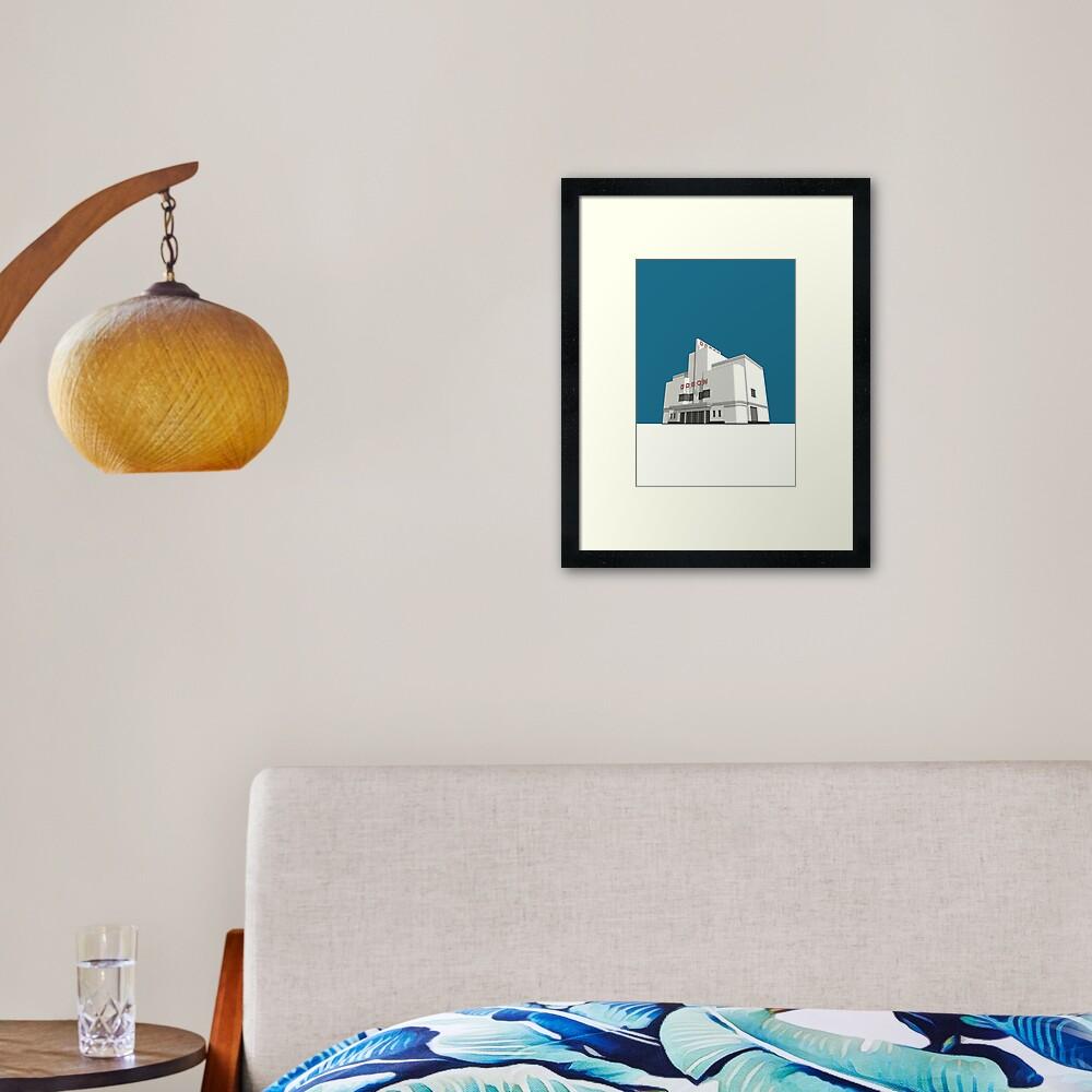 ODEON Balham Framed Art Print