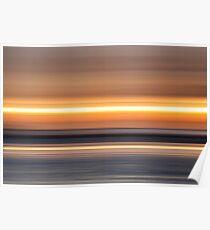 stripy sunset Poster