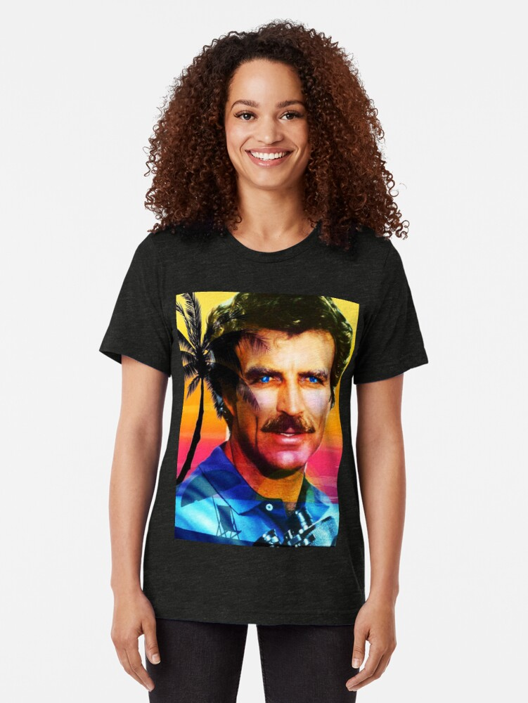 Alternate view of Tom Selleck Tri-blend T-Shirt