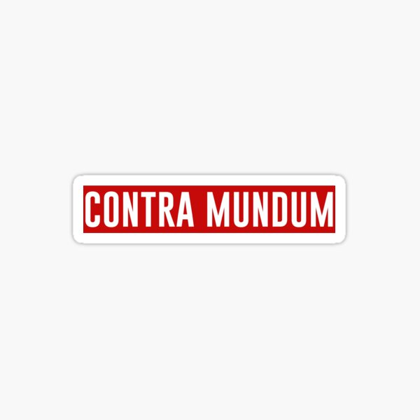 Contra mundum Sticker