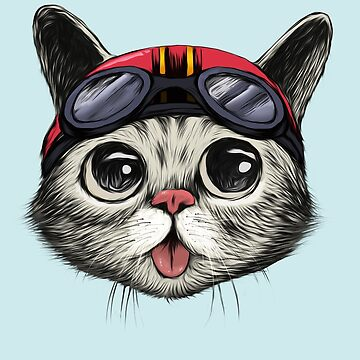 Cafe Racer Cat by Illustratorial