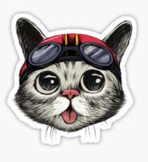 Cafe Racer Cat Sticker