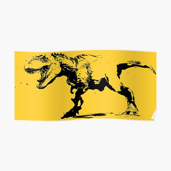 T-rex drawing Poster