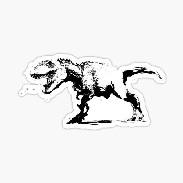 T-rex Zeichnung Sticker