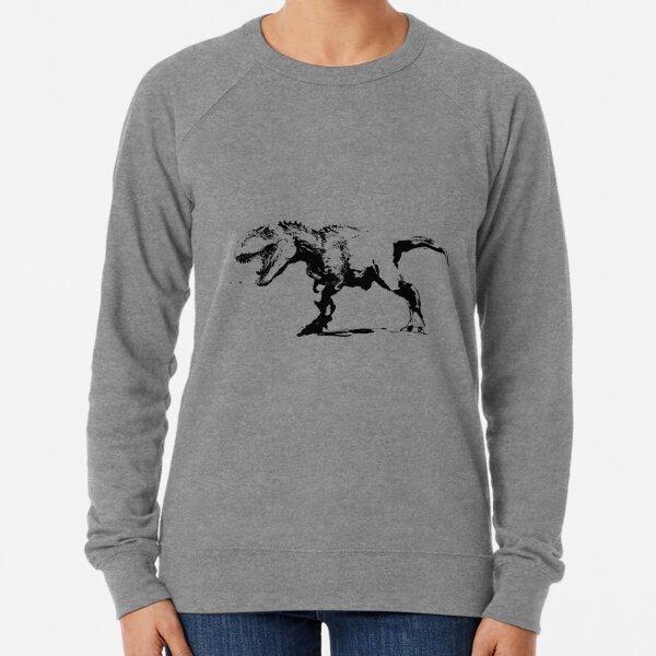 T-rex Zeichnung Leichter Pullover