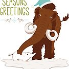 Holiday Beasties: Mammoth by saralynncreativ