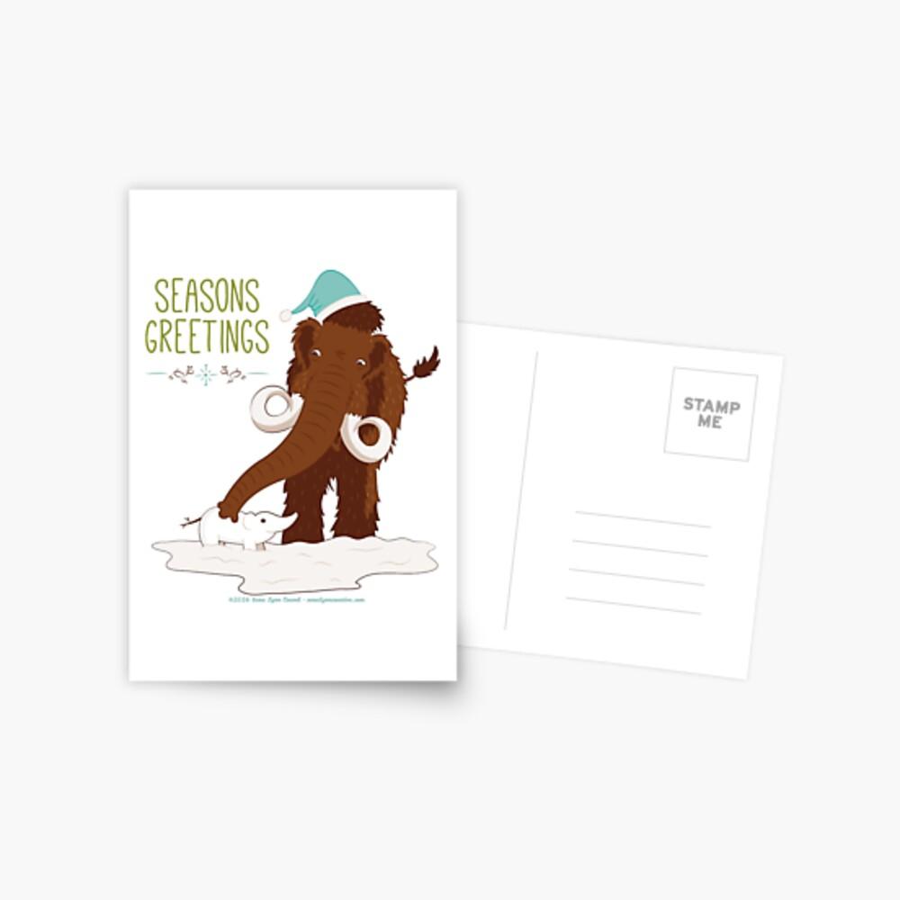 Holiday Beasties: Mammoth Postcard