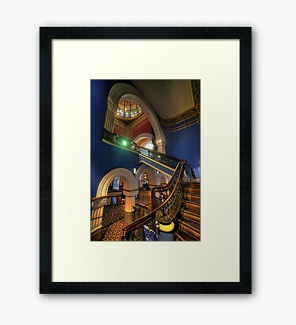 Victorian Majesty - The Queen Victoria Building Sydney - The HDR Experience Framed Print