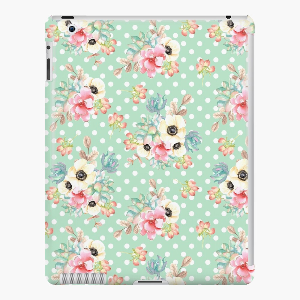 Vintage Seamless Patterns Watercolor Funda y vinilo para iPad