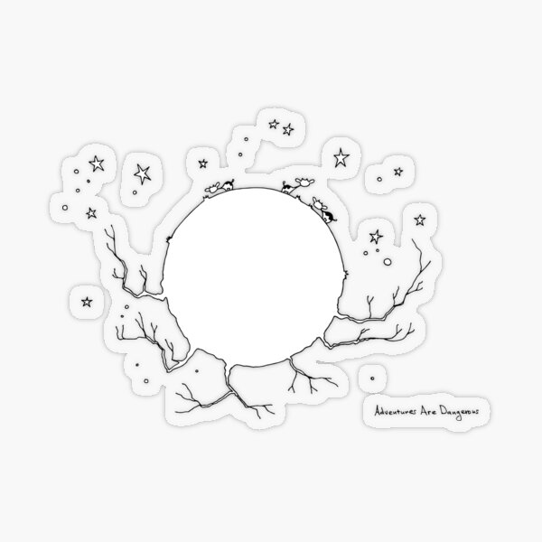 Cows on Planet with Reachy Graspy Hands Transparent Sticker
