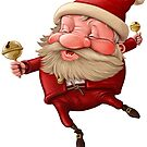 Santa Claus and the bell's dancing by jordygraph