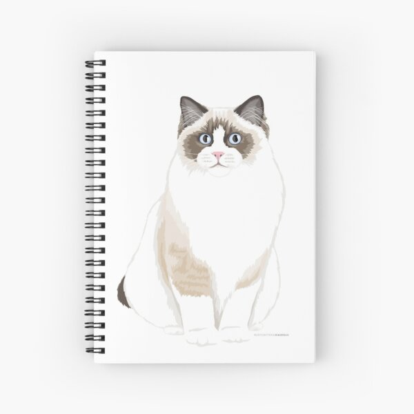 Seal Bicolor Ragdoll Spiral Notebook