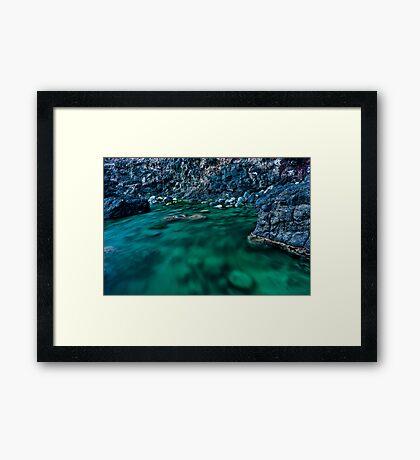 Racing Rock Pool Framed Print