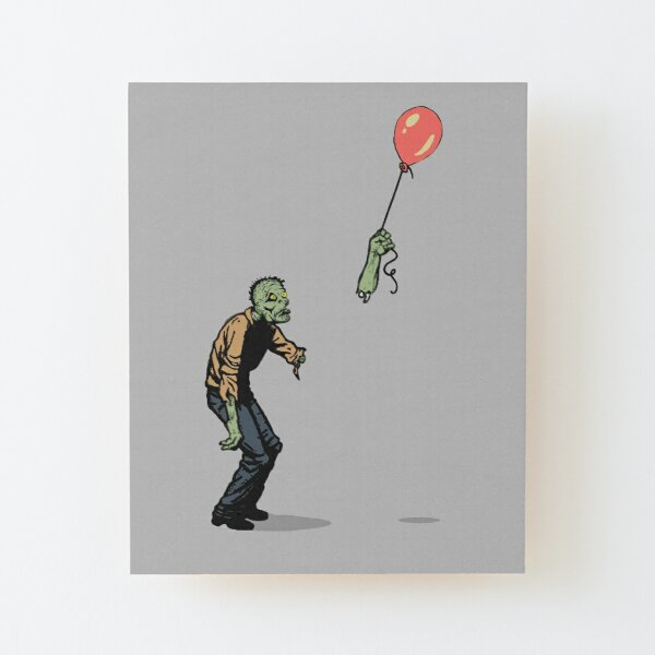 zombie Wood Mounted Print