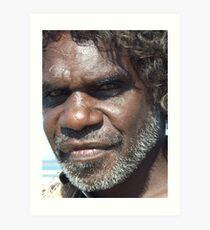 Look within the soul - Aboriginal local. Darwin, Northern Territory Art Print