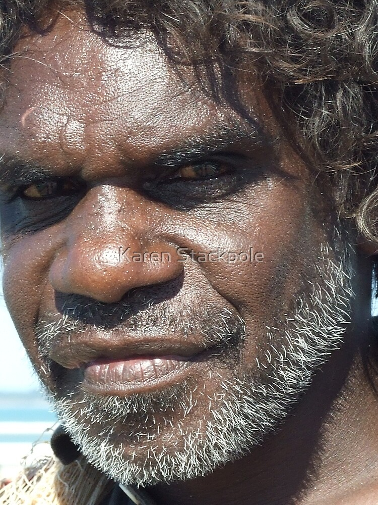 Look within the soul - Aboriginal local. Darwin, Northern Territory by Karen Stackpole